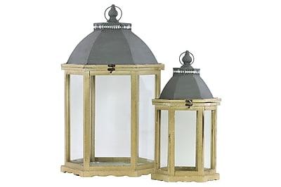 Urban Trends Wood Lantern, 15
