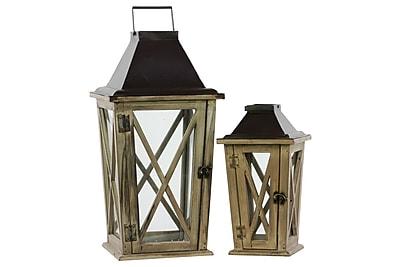Urban Trends Wood Lantern, 10