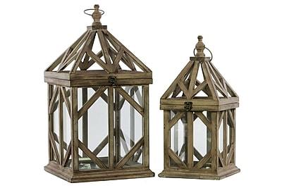 Urban Trends Wood Lantern, 11.5