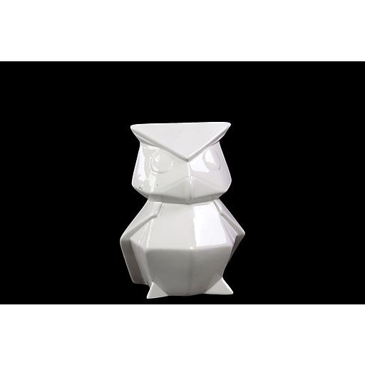 """Urban Trends Ceramic Figurine, 5.75""""L x 5""""W x 8.25""""H, White (46662)"""