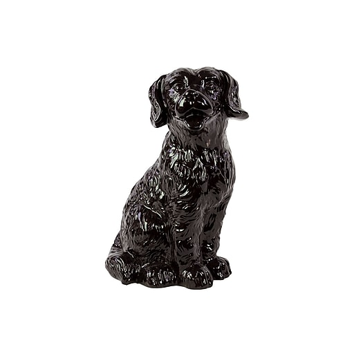 "Urban Trends Ceramic Figurine, 9.5""L x 7.25""W x 13.75""H, Black (46667)"