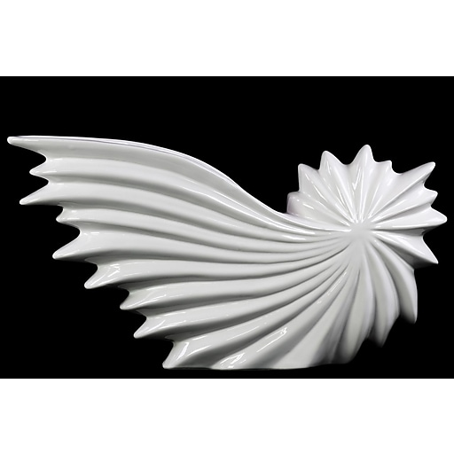 "Urban Trends Ceramic Sculpture, 15.75"" x 3.25"" x 8.5"", White (46743)"