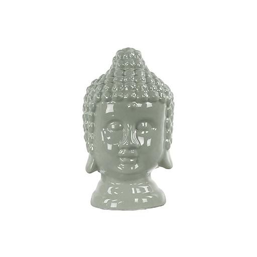 "Urban Trends Ceramic Buddha Head, 6"" x 5.5"" x 9.75"", Gray (46751)"