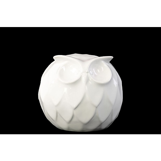 "Urban Trends Ceramic Figurine, 4.5"" x 4.5"" x 4.5"", White (46865)"