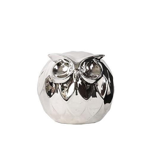 """Urban Trends Ceramic Figurine, 4.5""""L x 4.5""""W x 4.5""""H, White (46866)"""