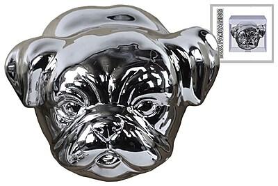 Urban Trends Ceramic Pug Dog Head, 4.5