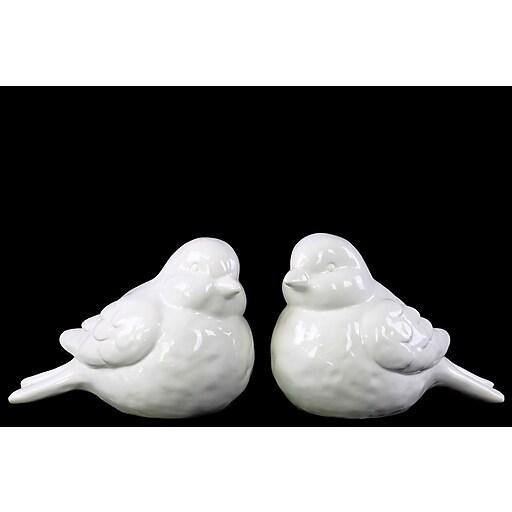 "Urban Trends Ceramic Figurine, 9"" x 5.5"" x 6.25"", White, 2/SET (46891-AST)"