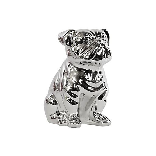 """Urban Trends Ceramic Figurine, 8""""L x 5.5""""W x 10""""H, Silver (46896)"""