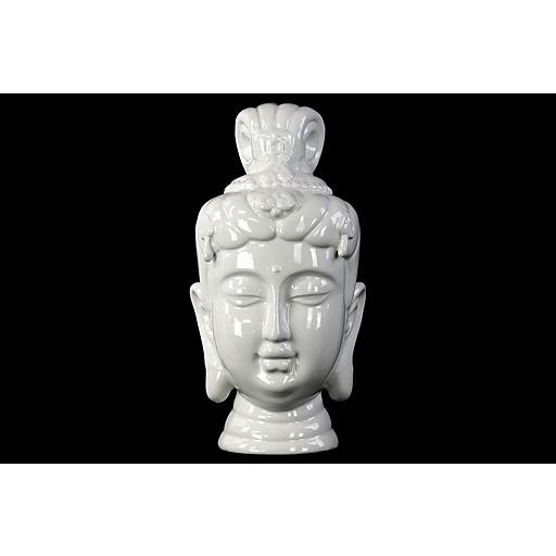 "Urban Trends Ceramic Head, 6.5"" x 6.5"" x 13"" White (50027)"