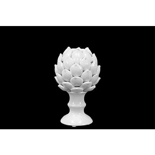 "Urban Trends Porcelain Figurine, 5""L x 5""W x 8.5""H, White (50503)"