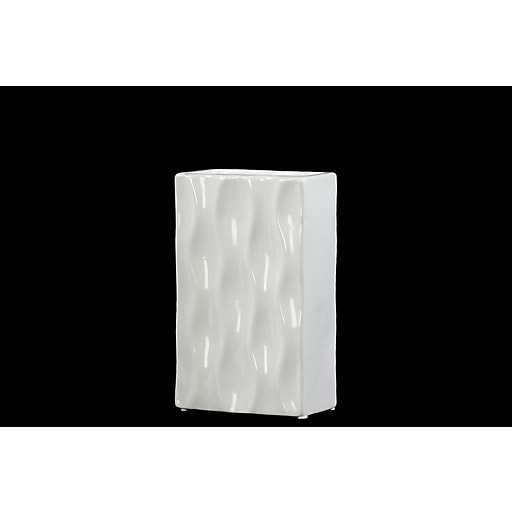"Urban Trends Ceramic Vase, 5.75"" x 3"" x 9.25"", White (50540)"