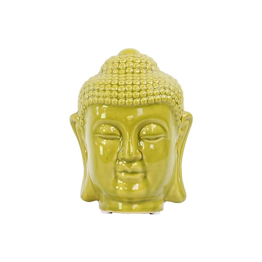 "Urban Trends Ceramic Head, 5.5""L x 6""W x 8""H, Green (50544)"