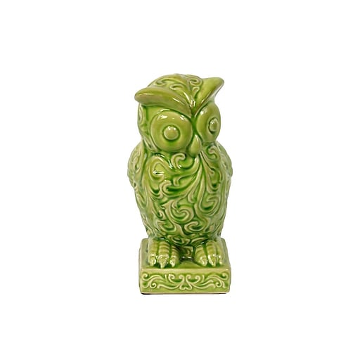 "Urban Trends Ceramic Figurine, 5"" x 6.25"" x 10.5"", Green (50812)"