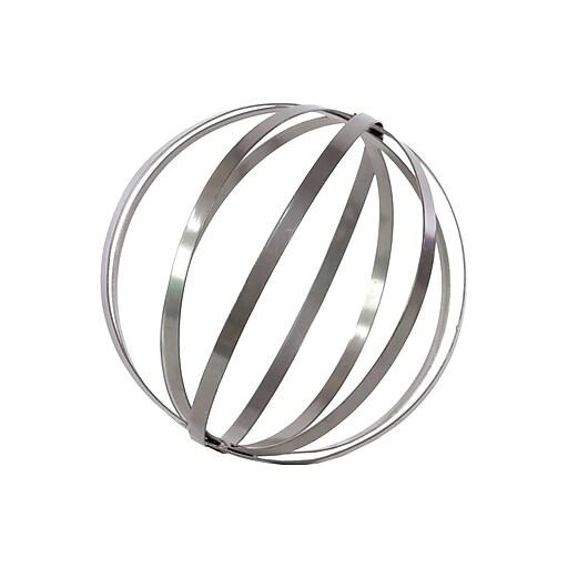"""Urban Trends Metal Sphere Sculpture, 10"""" x 10"""" x 10"""", Gray (52507)"""
