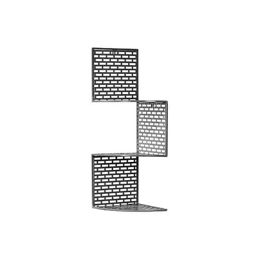 "Urban Trends Metal Shelf, 10"" x 10"" x 29.75"", Gray (60168)"