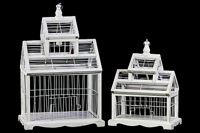 Urban Trends Wood Bird Cage, 12