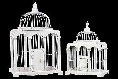 Urban Trends Wood Bird Cage, 12.75
