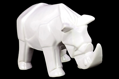 Urban Trends Ceramic Rhinoceros Figurine, 10.25