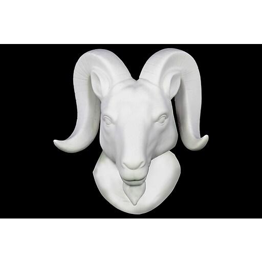 "Urban Trends Ceramic Head, 7.75""L x 4.75""W x 9""H, White (64424)"