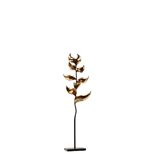 """Urban Trends Metal Candle Holder, 9.5"""" x 8"""" x 35.5"""", Gold (67018)"""