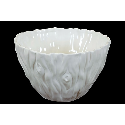 "Urban Trends Ceramic Bowl, 13""L x 13""W x 7.5""H, White (70343)"