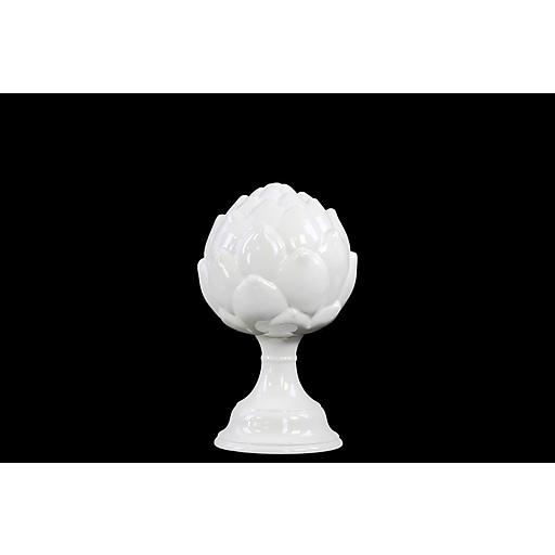 """Urban Trends Ceramic Figurine, 6""""L x 6""""W x 9.5""""H, White (70360)"""