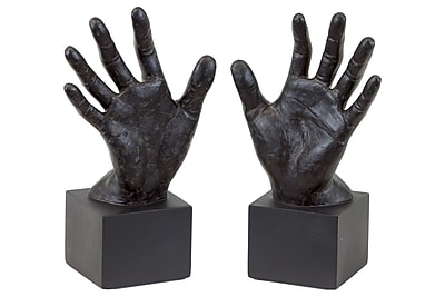 Urban Trends Resin Open Palm Hand Bookend, 8