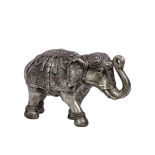 "Urban Trends Resin Figurine, 13""L x 5.25""W x 7.75""H, Silver (73005)"