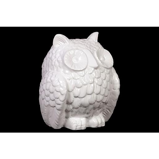 "Urban Trends Ceramic Figurine, 7.5"" x 7"" x 8.25"", White (73016)"