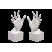 """Urban Trends Ceramic Bookend, 4""""L x 6""""W x 10.5""""H, White (73111)"""