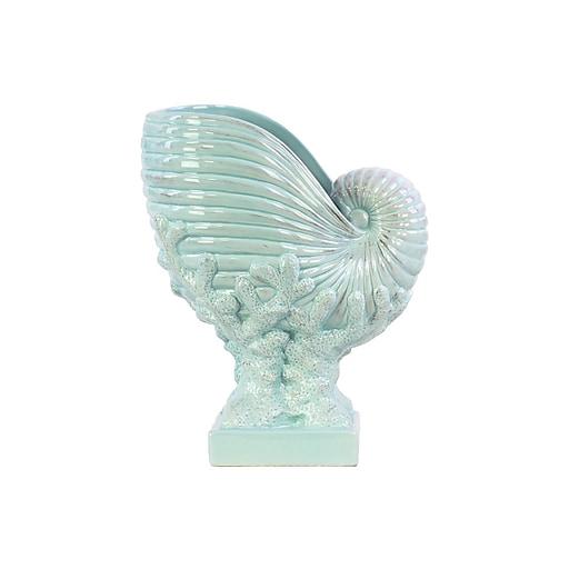 "Urban Trends Ceramic Sculpture, 9.75"" x 6.5"" x 11.75"", Blue (73196)"