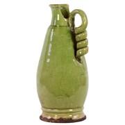 "Urban Trends Ceramic Vase, 9"" x 9"" x 16"", Green (76038)"