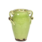 "Urban Trends Ceramic Vase, 11""L x 11""W x 12""H, Green (76041)"