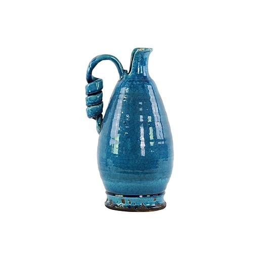 "Urban Trends Ceramic Vase, 9""L x 9""W x 16""H, Blue (76045)"