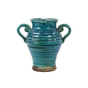 """Urban Trends Ceramic Vase, 12"""" x 12"""" x 12"""", Blue (76050)"""