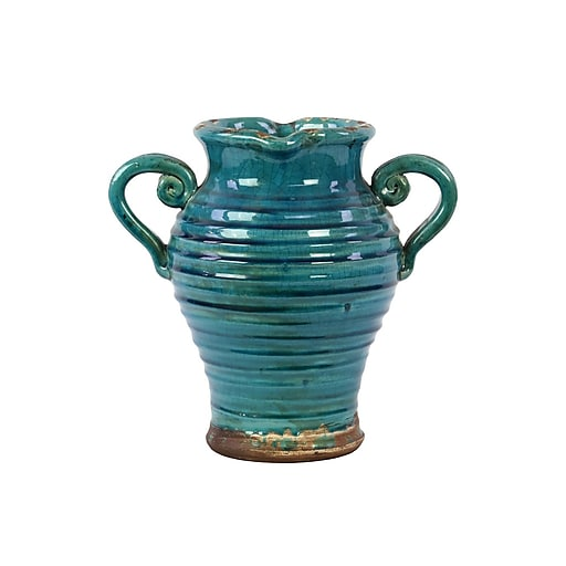"Urban Trends Ceramic Vase, 12"" x 12"" x 12"", Blue (76050)"