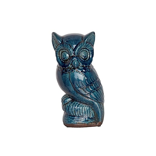 "Urban Trends Ceramic Figurine, 6""L x 5.5""W x 11""H, Blue (76380)"
