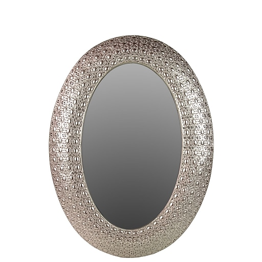 "Urban Trends Metal Mirror, 26.5"" x 1.5"" x 35.75"", Silver, 2/Pack (94130)"