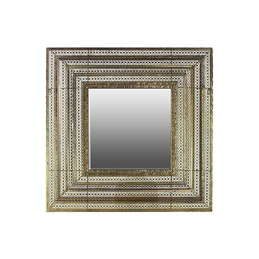 "Urban Trends Metal Mirror, 32"" x 3"" x 32"", Gold (94143)"