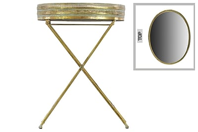 Urban Trends Collection Metal Accent Table, Gold, Each (94163)