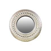 "Urban Trends Decorative Metal Round Wall Mirror, 35"" x 2"" x 35"", Champagne (94175)"