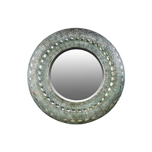 "Urban Trends Metal Mirror, 35"" x 2"" x 35"", Silver (94181)"