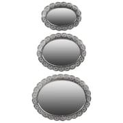 """Urban Trends Metal Mirror, 23""""L x 2.5""""W x 18.5""""H, Silver (94184)"""