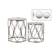 Urban Trends Collection Metal End Table, Gold, Each (94193)