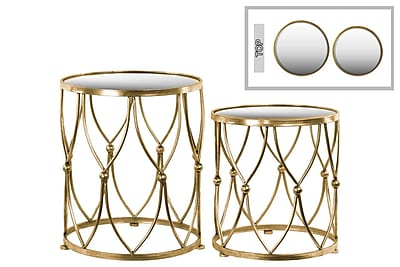 Urban Trends Collection Metal End Table, Gold, Each (94194)