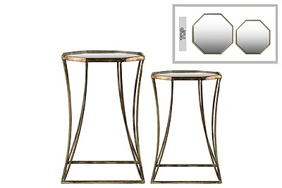 Urban Trends Collection Metal End Table, Gold, Each (94201)