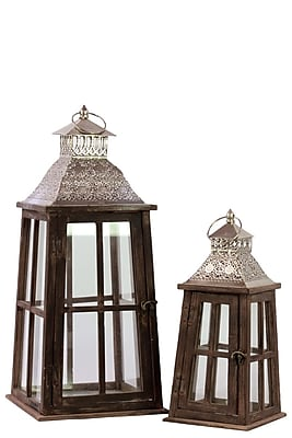 Urban Trends Wood Lantern, 10