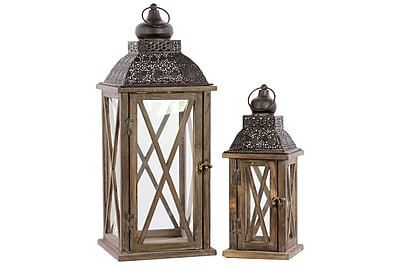 Urban Trends Wood Lantern, 8.6