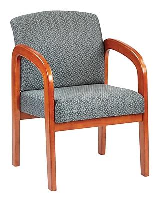 Office Star® Custom Oak Wood Visitor's Chair, Ash