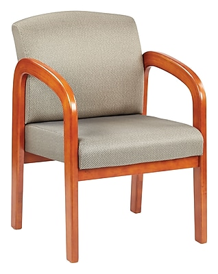 Office Star® Custom Oak Wood Visitor's Chair, Gold Dust